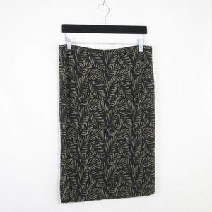 Ann Taylor LOFT Pull On Leaf Print Pencil Skirt